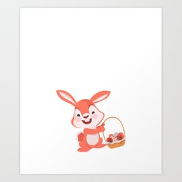 Hop into Spring Easter Bunny Holiday Celebration Art Print