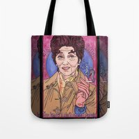 dot Tote Bags featuring Dot by Easties Across the Pond