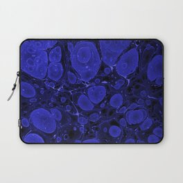 Tova - abstract art for home decor dorm college office minimal navy indigo blue Laptop Sleeve