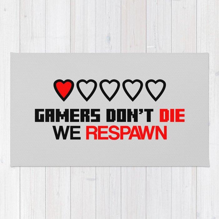Gamers Don T Die Rug By Epicnerd Society6