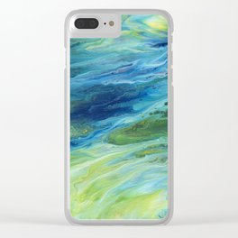 Abstract Moonlight Clear iPhone Case