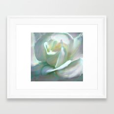 Painterly Iridescent Rose Framed Art Print