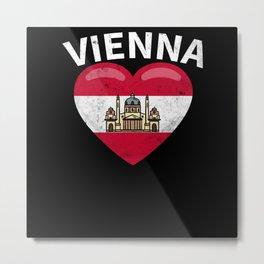 Vienna Austria Flag Designs Wien Oesterreich Metal Print