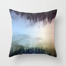 flipped forest Throw Pillow