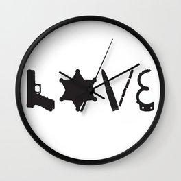 Love Deputy Sheriff Wall Clock