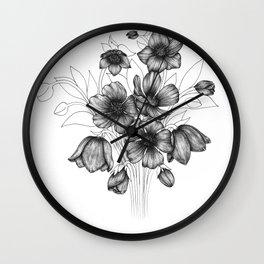 Hellebores Wall Clock