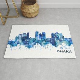 Dhaka Bangladesh Skyline Blue Rug