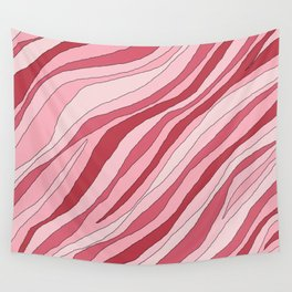 Pink abstract line Wall Tapestry
