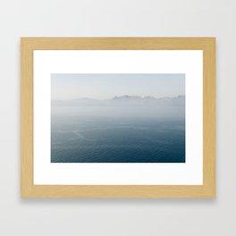 Santorini - Caldera II Framed Art Print