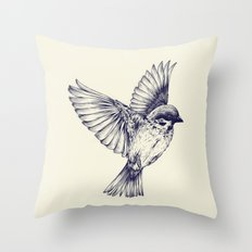 lost bird Throw Pillow