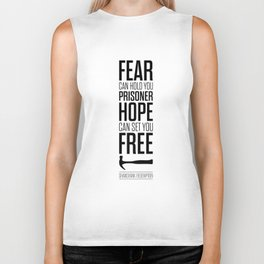 Lab No. 4 - Hope Inspirational Quote by Stephen King Inspirational Quotes Biker Tank