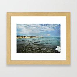 Versilia Italy Beach Ocean Coast View Horizontal Framed Art Print