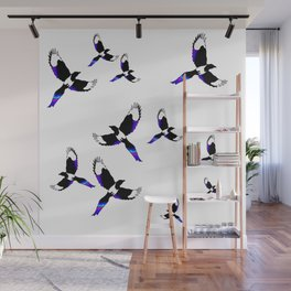 Magpie in Flight Wall Mural