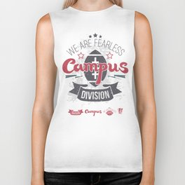 The emblem of rugby campus team in retro style Biker Tank