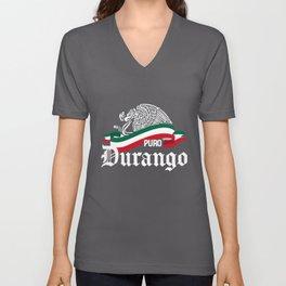 Durango Mexico - Puro Durango Flag Eagle Unisex V-Neck