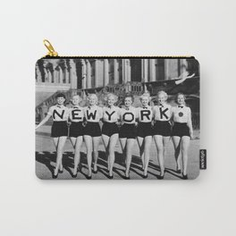 New York Girls in a line, lovely girls on the street - mid century vintage photo Carry-All Pouch