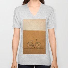 i like to ride my bicycle  Unisex V-Neck