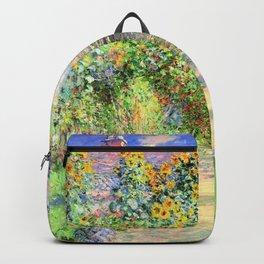 Monets Garden at Vetheuil Backpack