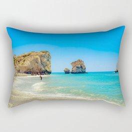 Cyprus Beach Scene Rectangular Pillow