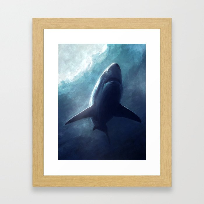The Shark Framed Art Print