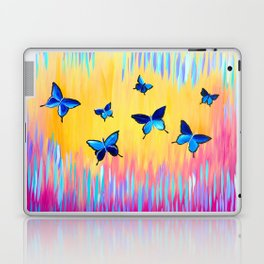 Butterflies and Abstract Colours Laptop & iPad Skin