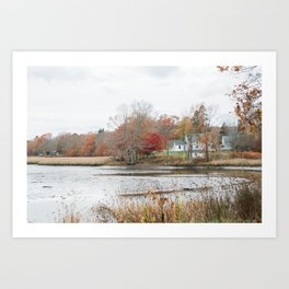 Serene Lake House Art Print
