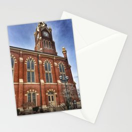 First Lutheran Church Side Entrance in Moline, Illinois Stationery Cards