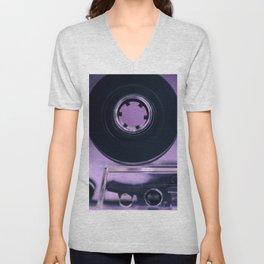 Audio Cassette Unisex V-Neck