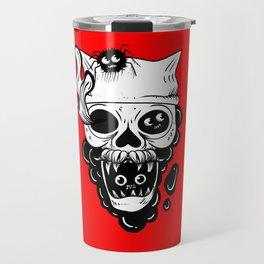 Skull and spiders Travel Mug
