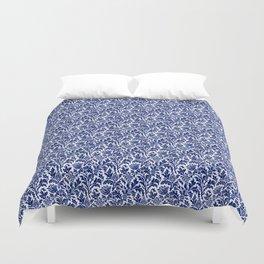 William Morris Thistle Damask, Cobalt Blue & White Duvet Cover