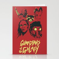 guardians of the galaxy Stationery Cards featuring Guardians by Virtual Window