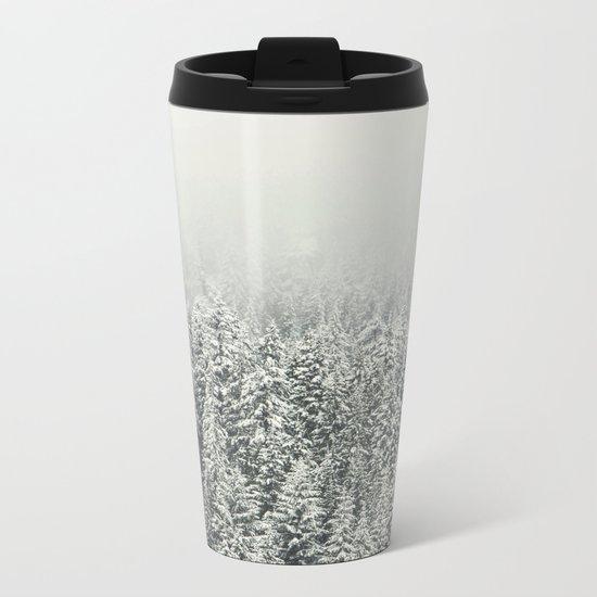 Snow Forest Metal Travel Mug