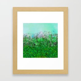 On Lilypads in Algae Ponds Framed Art Print