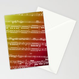 Double Bass Concerto Music on Red Stationery Cards