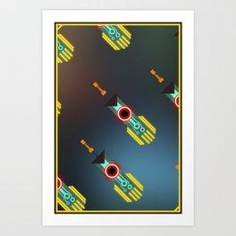 Transistor Swords Art Print