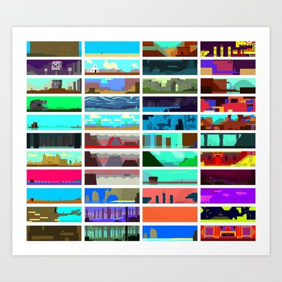 Guacamelee Concept Locations Art Print