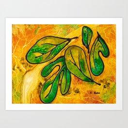 Sassafras Leaves Art Print
