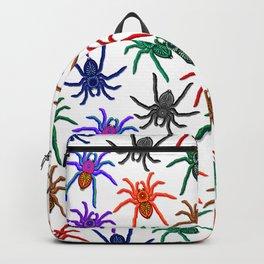 Spiders Colorful Halloween Tarantulas Pattern Backpack