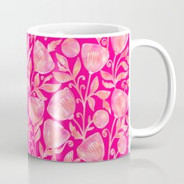 floral ornement on pink Coffee Mug