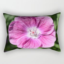 Pink summer flower blossom (Macro Close-Up) Rectangular Pillow