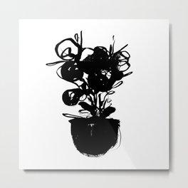 flower pot 001 Metal Print