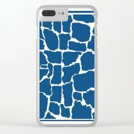 Classic Blue Giraffe Clear iPhone Case