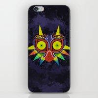 majoras mask iPhone & iPod Skins featuring Majora's Mask Splatter by Greytel