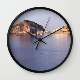 swimming to s'ant angelo Wall Clock
