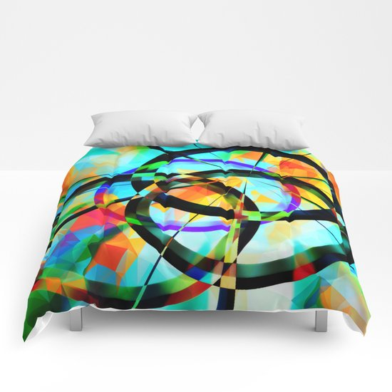 Polygons and Circles Comforters