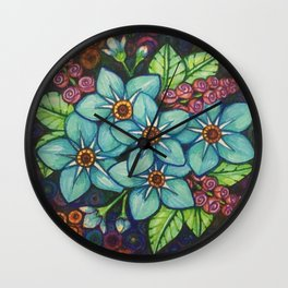 Oh My Stars - Forget-Me-Not Ever Wall Clock