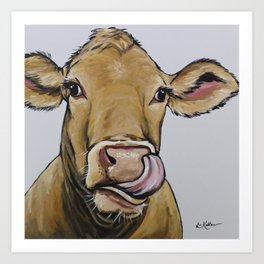 Funny Cow Art, Daisy the Cow Art Print