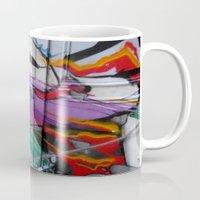 grafitti Mugs featuring Grafitti by Anna Mundy