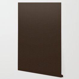 Mini Black and Brown Coffee Cowboy Buffalo Check Wallpaper