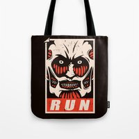 run Tote Bags featuring Run by le.duc